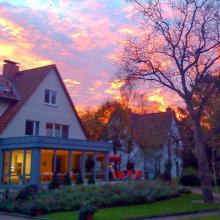 Sonnenaufgang beim Hospiz Luise