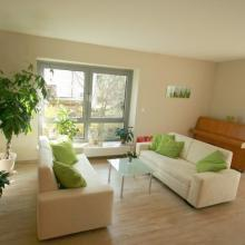 Wohnzimmer im Hospiz Luise