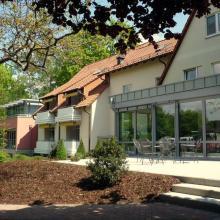 Das Hospiz Luise nach dem Umbau – Terrasse