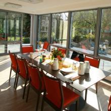Das Hospiz Luise nach dem Umbau – Wintergarten